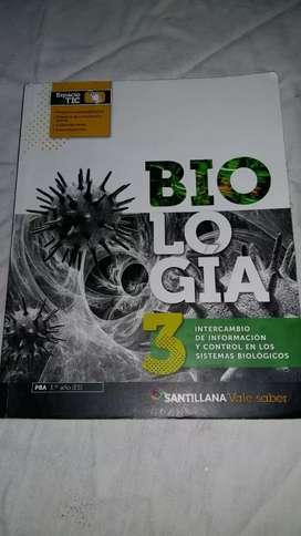 Libro de Biología 3, santillana