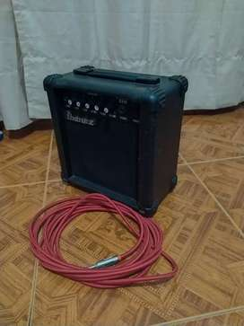 AMPLIFICADOR IBANEZ GTA10 CON CABLE INCLUIDO