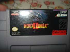 Juego Mortal Kombat 2 Nintendo Snes Original Impecable!!