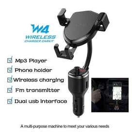 Reproductor De MP3 Cargador De Automóvil Inalámbrico Dual USB
