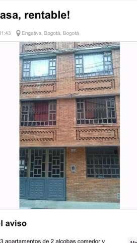 Rentable casa con 4 apartamentos independientes