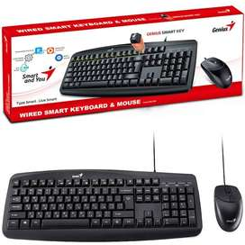 Combo Alámbrico Mouse Y Teclado Genius Smart