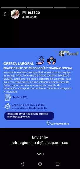 Estudiante o profesión al psicología o trabajo social