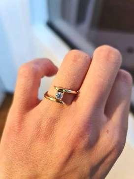 Remato anillo de compromiso oro (18k)