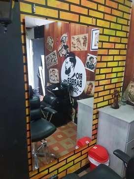 Montaje completo de barbería