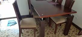 Comedor para 8 puestos de 6 sillas