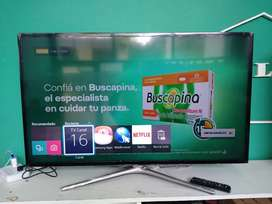 Smart tv 46 Samsung outlet con detalle de una linea