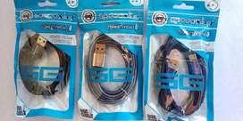 CABLES DE DATOS USB TIPO C ESTILO CORDON NUEVOS