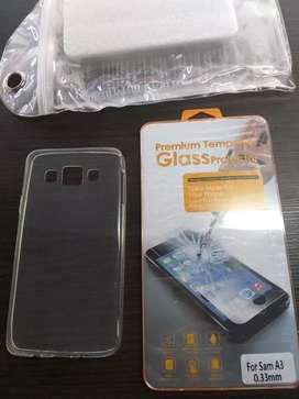 Funda vidrio y bolsa viajera para Samsung Galaxy A3