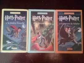 Se vende los tres primeros libros de la saga de Harry Potter