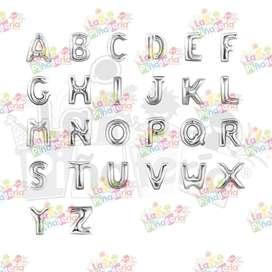 Globos metalizados letras y números