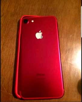 Iphone 7  128 gb scarlett red