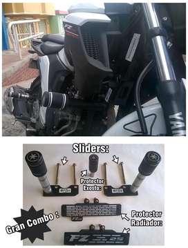 Slaideres y defensas Fz 25 Fz  Yamaha