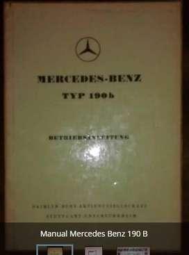 Manual Original Mercedes 190 B
