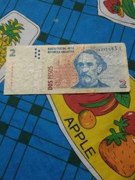 Billete de 2 pesos