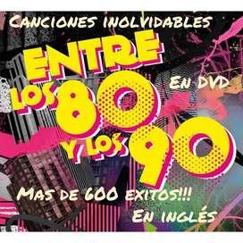 Música en Ingles Éxitos en Dvd