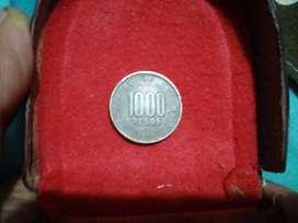 Moneda de 1000 pesos colombianos de 1996