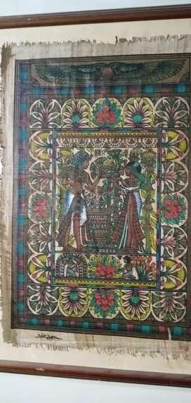 Papiro original super Egipcio Con marco
