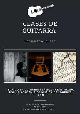 Clases de guitarra con certificacion