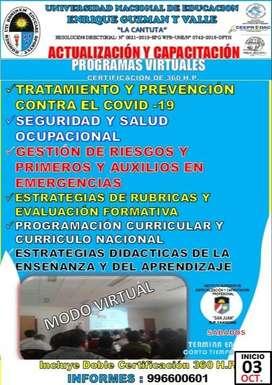 CURSO VIRTUAL DE SALUD Y EDUCACION