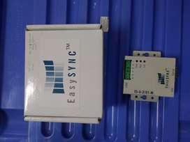 Adaptador serie RS422/RS485 aislado de 1 puerto riel DIN caja metálicaagrega un puerto RS422  RS485 aislado ópticamente