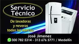 Servicio técnico de lavadora y nevera