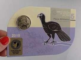 blister pava aliblanca moneda coleccion peru