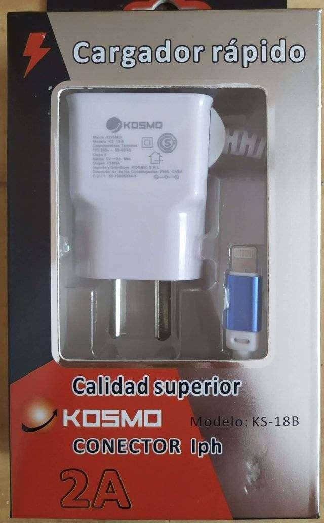 Cargador Rapido 2A Kosmo USB EXTRA - Iphone