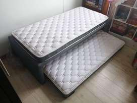 Base cama nido auxiliar 100x190 incluye Colchones