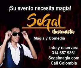 Mago Segal, Magos, Show de magia, Magia y comedia, Magos de Cali