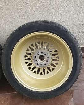 VENDO 03 AROS BBS CON LLANTA 215/50Z/R17
