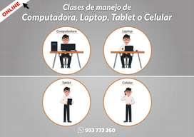 Clases de manejo de Computadora, Laptop, Tablet o Celular