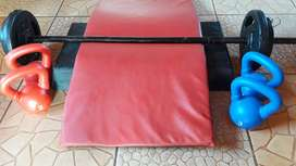 Fitness (barras, discos, step, colchonetas)