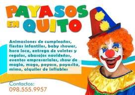 1USD FIESTAS /ANIMACIONES CON LOS MEJORES PERSONAJES INFANTILES/QUITO