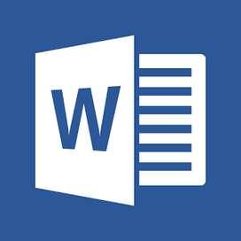 Se realizan trabajos de Office Word - Chiclayo