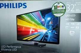 "Televisor PHILIPS HD 32"" Mod 32PFL4509C como nuevo"