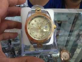reloj rolex con fecha correas de acero,