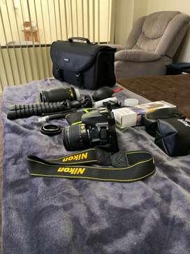 Camara Nikon D3400 + Lentes + Full Accesorios