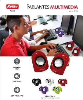 Parlantes Kolke - KP-106 para PC. Producto nuevo y en caja.