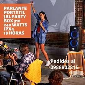 Parlante portátil JBL party box 310 con 240 watts ipx4
