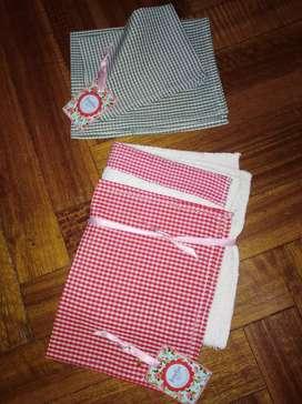 Mantelitos y toallas para Jardin de Infantes