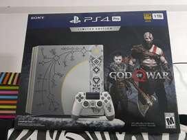 Ps4 Pro Edicion Limitada God Of War 1tb 4k + 2 Joy $50.000