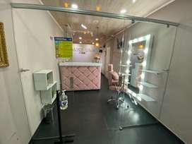 Venta estudio de belleza muebles