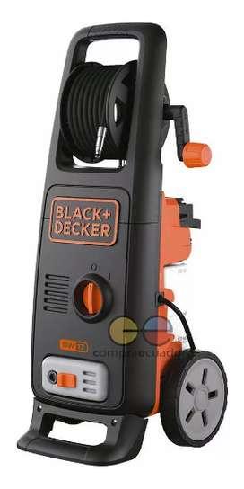 Black Decker Hidrolavadora 1600 W Presión 130bar 1885 Psi