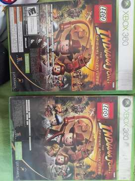 Indiana Jones Lego y Kunfu Panda para xbox 360 (2 juegos en 1).