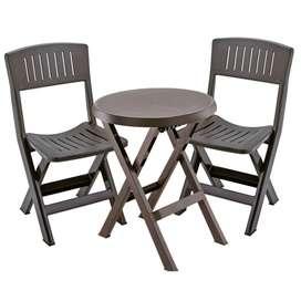 Combo plegable Rimax 2 sillas +mesa