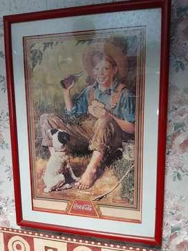 Poster de coca cola antiguo