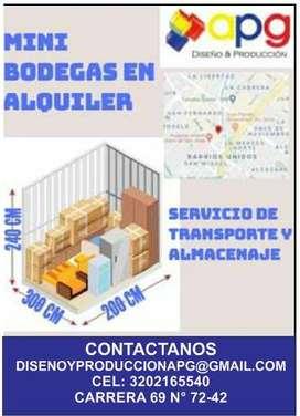 Alquiler de mini bodegas en Bogotá