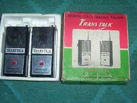 ANTIGUO JUEGO RADIOS TRANSMISORES TRANS TALK RETRO JAPAN AÑO 1960