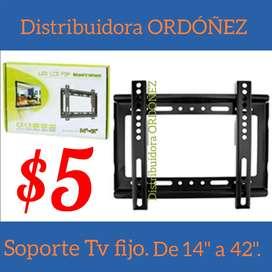Soporte tv fijo de pared para pantallas planas y curve de 14 hasta 42 pulgadas